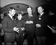 20/04/1970<br /> 04/20/1970<br /> 20 April 1970<br /> Tynagh Mines Dinner Dance at Loughrea, Co. Galway. (l-r): Captain Alexander, S.S. Heddernheim; Mrs F.W. Sheridan; Dave Fitzgerald, Mine Manager Tynagh and Mr. F.W. Sheridan, Dock Superintendent.