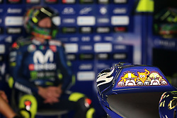 May 23, 2018 - Barcelona, Spain - decoration on Valentino Rossi's motorbike (Yamaha) during the Moto GP test in the Barcelona Catalunya Circuit, on 23th May 2018 in Barcelona, Spain. (Credit Image: © Joan Valls/NurPhoto via ZUMA Press)
