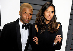 Pharrell Williams, Helen Lasichanh arrives at the 2016 Vanity Fair Oscar Party Hosted By Graydon Carter at Wallis Annenberg Center for the Performing Arts on February 28, 2016 in Beverly Hills, California. EXPA Pictures © 2016, PhotoCredit: EXPA/ Photoshot/ Dennis Van Tine<br />