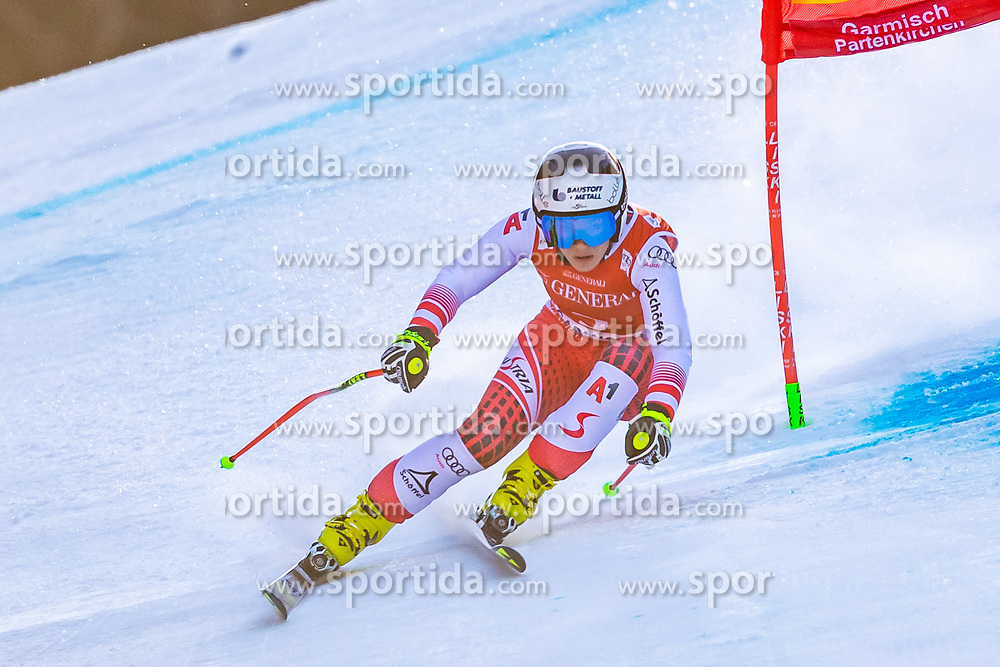09.02.2020, Kandahar, Garmisch, GER, FIS Weltcup Ski Alpin, Super G, Damen, im Bild Nicole Schmidhofer (AUT) // Nicole Schmidhofer of Austria in action during his run for the women's SuperG of FIS Ski Alpine World Cup at the Kandahar in Garmisch, Germany on 2020/02/09. EXPA Pictures © 2020, PhotoCredit: EXPA/ Johann Groder