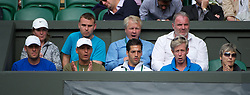LONDON, ENGLAND - Monday, June 25, 2012: Tomas Berdych's coaching team during the Gentleman's Singles 1st Round match on the opening day of the Wimbledon Lawn Tennis Championships at the All England Lawn Tennis and Croquet Club. (Pic by David Rawcliffe/Propaganda)