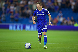CARDIFF, WALES - Wednesday, August 17, 2016: Cardiff City's Declan John in action against Blackburn Rovers during the Football League Championship match at Cardiff City Stadium. (Pic by David Rawcliffe/Propaganda)