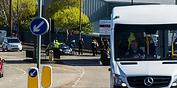 Pictured: <br /> <br /> A new policing initiative to promote cycle safety was launched in Edinburgh today. The operation saw drivers pulled over for passing too close to an unmarked police cyclist or any other vehicle.<br /> Ger Harley | EEm 24 April 2017
