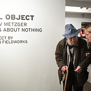 Opening of the show 'Null project: Jo Joelson in conversation with Gustav Metzger. Gustav Metzger thinks about nothing' at WORK gallery. Null project is a sculptural work by London Fieldworks  ( Bruce Gilchrist and Jo Joelson)