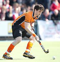 UTRECHT - HOCKEY - OZ-speler Robert van der Horst tijdens de hoofdklassewedstrijd tussen de mannen van Kampong en Oranje-Zwart (3-3). COPYRIGHT KOEN SUYK