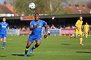 AFC Wimbledon striker Dominic Poleon (10) chasing after a through ball during the EFL Sky Bet League 1 match between AFC Wimbledon and Bristol Rovers at the Cherry Red Records Stadium, Kingston, England on 8 April 2017. Photo by Matthew Redman.
