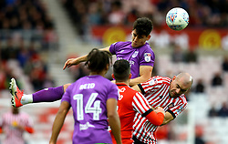 Callum O'Dowda of Bristol City beats Darron Gibson of Sunderland to a header - Mandatory by-line: Robbie Stephenson/JMP - 28/10/2017 - FOOTBALL - Stadium of Light - Sunderland, England - Sunderland v Bristol City - Sky Bet Championship