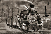 Wall Art of the American West For Sale- Old vintage train building steam, Silverton, Colorado. Photo by Colin E. Braley