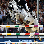 04.08.2018 The Longines Global Champions Tour Show jumping at The Royal Hospital Chelsea London UK Global Champions League of London for teams CS15 Competition in 2 phases and 2nd GCL Competition for Teams  Philip Houston GER riding Loewenherz