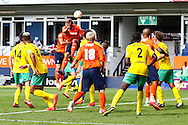 Fraser Franks of Luton Town scores his team's second goal to make it 2-0 during the Pre Season Friendly match at Kenilworth Road, Luton<br /> Picture by David Horn/Focus Images Ltd +44 7545 970036<br /> 26/07/2014