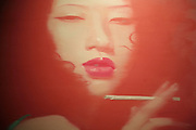 "Jiang Congyi 's Paintings of women, in a series called ""Beijing Belle"" on exhibition in the 798 art district."