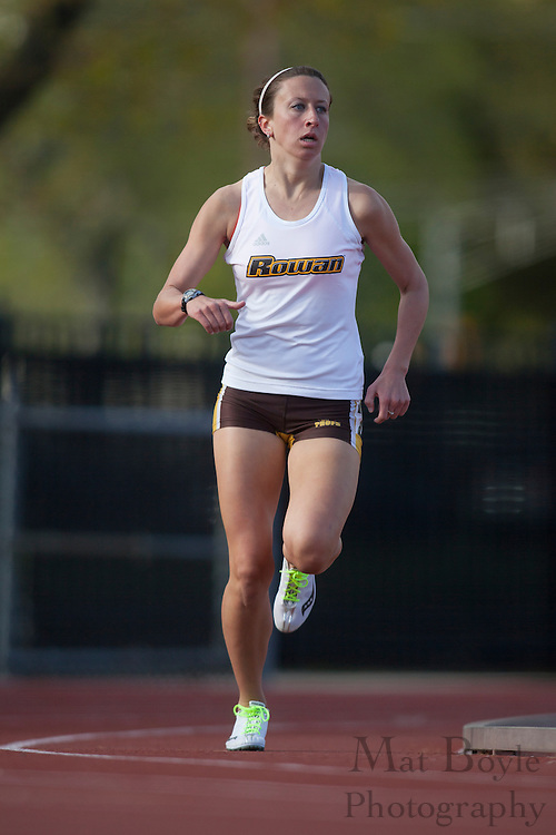 Rowan University Women's track and field host Georgian Court University on Thursday April 12, 2012 in Glassboro, NJ. (photo / Mat Boyle)