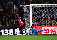 FOOTBALL - 2018 / 2019 Premier League - Watford vs Southampton<br /> <br /> Southampton's Nathan Redmond denied by Watford's Ben Foster, at Vicarage Road.<br /> <br /> COLORSPORT/ASHLEY WESTERN