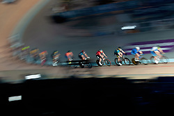 February 10, 2019 - Melbourne, VIC, U.S. - MELBOURNE, VIC - FEBRUARY 08: Riders are seen competing during the 7.5km points race at The Six Day Cycling Series on February 08, 2019 at Melbourne Arena, VIC. (Photo by Speed Media/Icon Sportswire) (Credit Image: © Speed Media/Icon SMI via ZUMA Press)