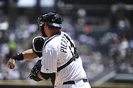 CHICAGO, IL - JUNE 26:  A.J. Pierzynski #12 of the Chicago White Sox catches against the Washington Nationals on June 26, 2011 at U.S. Cellular Field in Chicago, Illinois.  The Nationals defeated the White Sox 2-1.  (Photo by Ron Vesely/MLB Photos via Getty Images)  *** Local Caption *** A.J. Pierzynski
