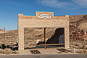 Old HD & LD Porter Store in the abandoned ghost town of Rhyolite, NV.