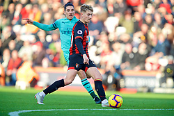 BOURNEMOUTH, ENGLAND - Sunday, November 25, 2018: AFC Bournemouth's David Brooks sets-up the first equalising goal during the FA Premier League match between AFC Bournemouth and Arsenal FC at the Vitality Stadium. (Pic by David Rawcliffe/Propaganda)