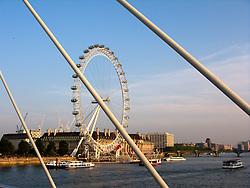 UK ENGLAND LONDON 28JUL08 - View of the London Eye on the South Bank from Hungerford Bridge in central London...jre/Photo by Jiri Rezac..© Jiri Rezac 2008..Contact: +44 (0) 7050 110 417.Mobile:  +44 (0) 7801 337 683.Office:  +44 (0) 20 8968 9635..Email:   jiri@jirirezac.com.Web:    www.jirirezac.com..All images © Jiri Rezac 2008. All rights reserved.