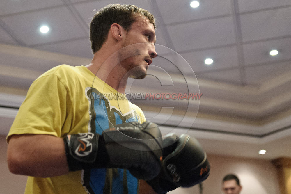 BIRMINGHAM, ENGLAND, NOVEMBER 2, 2011: Brad Picket is pictured at the media open work-out sessions inside the Hilton Hotel on November 2, 2011.