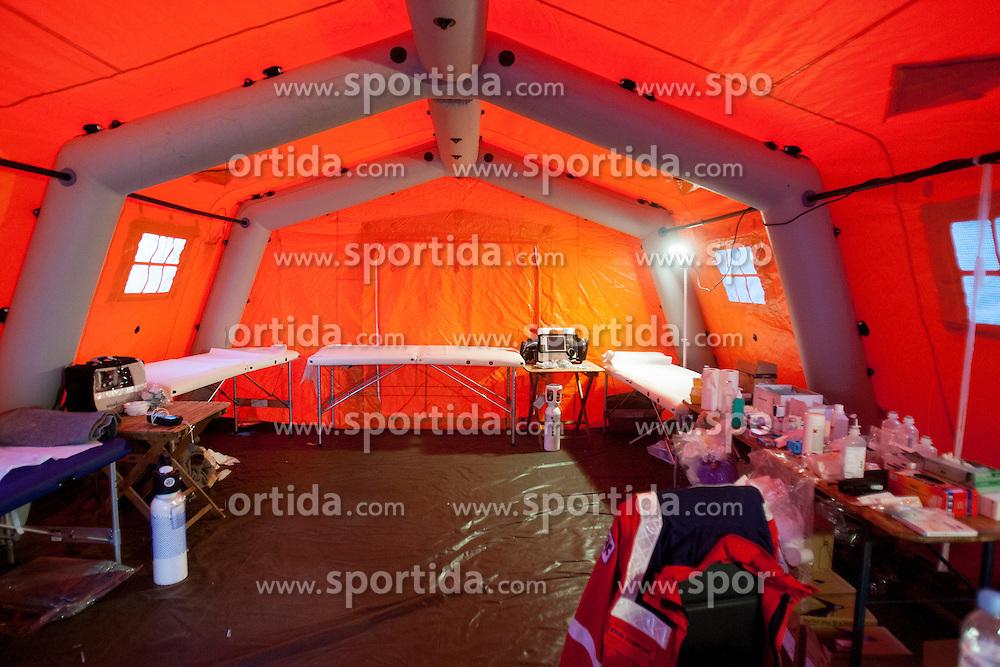 First aid during 19th Ljubljana Marathon 2014 on October 26, 2014 in Ljubljana, Slovenia. Photo by Urban Urbanc / Sportida.com