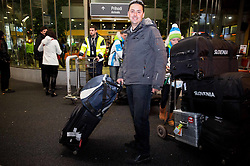 Journalist Martin Pavcnik at reception of Slovenia team arrived from Winter Olympic Games Sochi 2014 on February 25, 2014 at Airport Joze Pucnik, Brnik, Slovenia. Photo by Vid Ponikvar / Sportida