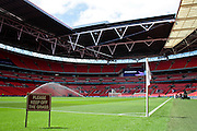 Wembley Stadium before the SSE Women's FA Cup Final match between Chelsea Ladies and Arsenal Ladies at Wembley Stadium, London, England on 14 May 2016. Photo by Nigel Cole.