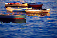 Fishing dory's at anchor in Marblehead Bay, Massachusetts
