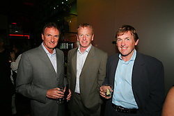 LIVERPOOL, ENGLAND - WEDNESDAY, JUNE 9th, 2005: Liverpool Legends (L-R) Phil Thompson, David Fairclough and Kenny Dalglish at the Players Party at the St Thomas Hotel during the 4th Liverbird Developments Liverpool International Tennis Tournament. (Pic by Dave Rawcliffe/Propaganda)