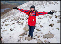 Image ©Licensed to i-Images Picture Agency. 30/05/2015. Fort William, Scotland,United Kingdom. Loose Women Stars L to R Kaye Adams, Nadia Sawalha, Linda Robson,reach near the top of Ben Nevis for Climb with Ed in connection with the charity Children with Cancer. Picture by Andrew Parsons / i-Images