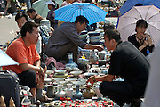Panjiayuan weekend market. Open air flea market section.