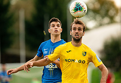 Dušan Stojinović of Celje vs Mustafa Nukić of Bravo during football match between NK Bravo and NK Celje in 13th Round of Prva liga Telekom Slovenije 2019/20, on October 5, 2019 in ZAK stadium, Ljubljana, Slovenia. Photo by Vid Ponikvar / Sportida