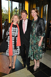 SIR JOHN MADEJSKI and his daughters, Left HELEN MORRIS and right CAMILLA MORRIS at a private view of 'Horst: Photographer of Style' at The V&A Museum, London on 3rd September 2014.