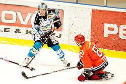 Tosic Luka of HK Jesenice during ice-hockey match between HK Acroni Jesenice and EHC Liwest Black Wings Linz in 43rd Round of EBEL league, on Januar 17, 2012 at Dvorana Podmezaklja, Jesenice, Slovenia. (Photo By Urban Urbanc / Sportida)