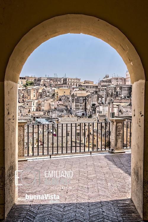 Matera, Italia, 2013<br /> Vista dei Sassi di Matera, patrimonio mondiale dell'Unesco<br /> <br /> Matera, Italy, 2013<br /> A view of the Sassi of Matera, Unesco world heritage