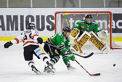 23.01.2015, Hala Tivoli, Ljubljana, SLO, EBEL, HDD Telemach Olimpija Ljubljana vs HC Znojmo Orli, 42. Runde, in picture Adam Havlik (HC Znojmo Orli, #88) vs Anze Ropret (HDD Telemach Olimpija, #29) during the Erste Bank Icehockey League 42. Round between HDD Telemach Olimpija Ljubljana and HC Znojmo Orli at the Hala Tivoli, Ljubljana, Slovenia on 2015/01/23. Photo by Morgan Kristan / Sportida