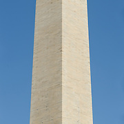Washington Monument High Resolution Panorama Southeastern Corner. Very high resolution panorama image (98.4 megapixel) of the southeastern corner of the Washington Monument on the National Mall with clear blue sky background.