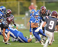 Water Valley's Brandon Bounds (6) vs. New Albany at Bobby Clark Field in Water Valley, Miss. on Friday, August 22, 2014. Water Valley won the season opener 36-33.