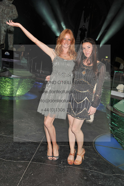 Left to right, OLIVIA INGE and JESS DELUCA-MOORE at The Global Party held at The Natural History Museum, Cromwell Road, London on 8th September 2011.