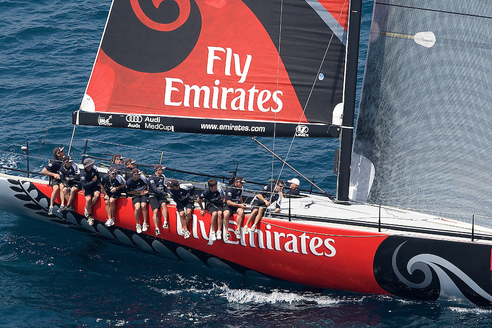 SPAIN, Alicante, 12th May 2009, AUDI MedCup, City of Alicante Trophy, Practice Race, Emirates Team New Zealand