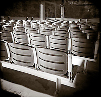 PL09715-00...GEORGIA - Holga image of seats in a row at Vogel State Park.