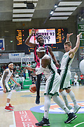 Ron Curry of Telekom Baskets Bonn and defense of Johan Passave Ducteil and Heiko Schaffartzik of Nanterre 92 team during the Champions League, Group D, basketball match between Nanterre 92 and Telekom Baskets Bonn on January 24, 2018 at Palais des Sports Maurice Thorez in Nanterre, France - Photo I-HARIS / ProSportsImages / DPPI