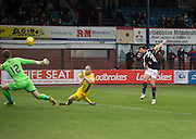 Dundee&rsquo;s Kostadin Gadzhalov scores his side's second goal - Dundee v St Johnstone in the Ladbrokes Scottish Premiership at Dens Park, Dundee - Photo: David Young, <br /> <br />  - &copy; David Young - www.davidyoungphoto.co.uk - email: davidyoungphoto@gmail.com