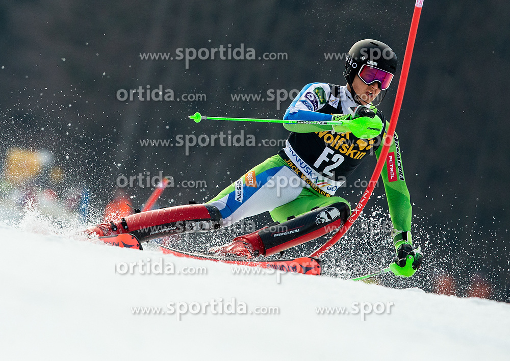 Forerunner Anze Gartner of Slovenia during Audi FIS Alpine Ski World Cup Men's Slalom 58th Vitranc Cup 2019 on March 10, 2019 in Podkoren, Kranjska Gora, Slovenia. Photo by Matic Ritonja / Sportida