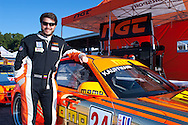 Carlos Kauffmann celebrates pole position