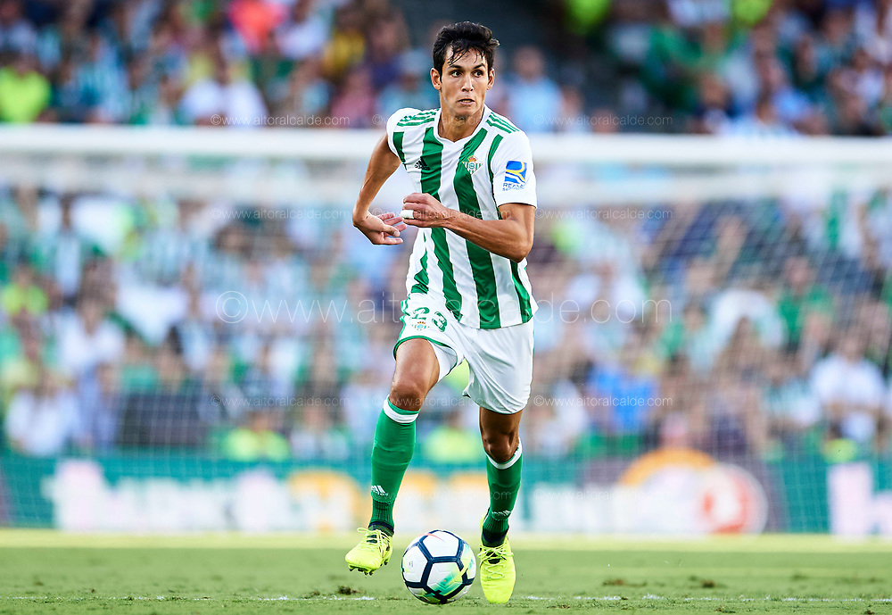 SEVILLE, SPAIN - SEPTEMBER 16:  Aissa Mandi of Real Betis Balompie in action during the La Liga match between Real Betis and Deportivo La Coruna  at Estadio Benito Villamarin on September 16, 2017 in Seville, .  (Photo by Aitor Alcalde Colomer/Getty Images)