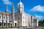 Monastery of Jeronimos - Mosteiro  dos Jeronimos and Igreja Santa Maria de Belem, Church of Saint Mary, in Lisbon, Portugal