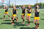 Den Bosch - Den Bosch - SCHC  Dames, Halve Finale  Playoffs, Tweede wedstrijd, Hoofdklasse Hockey Dames, Seizoen 2017-2018, 05-05-2018, Den Bosch - SCHC 4-2,  Dames Den Bosch bereiken finale play offs.<br /> <br /> (c) Willem Vernes Fotografie