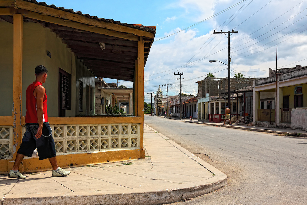 Street in Santa Cruz del Norte, Mayabeque, Cuba.