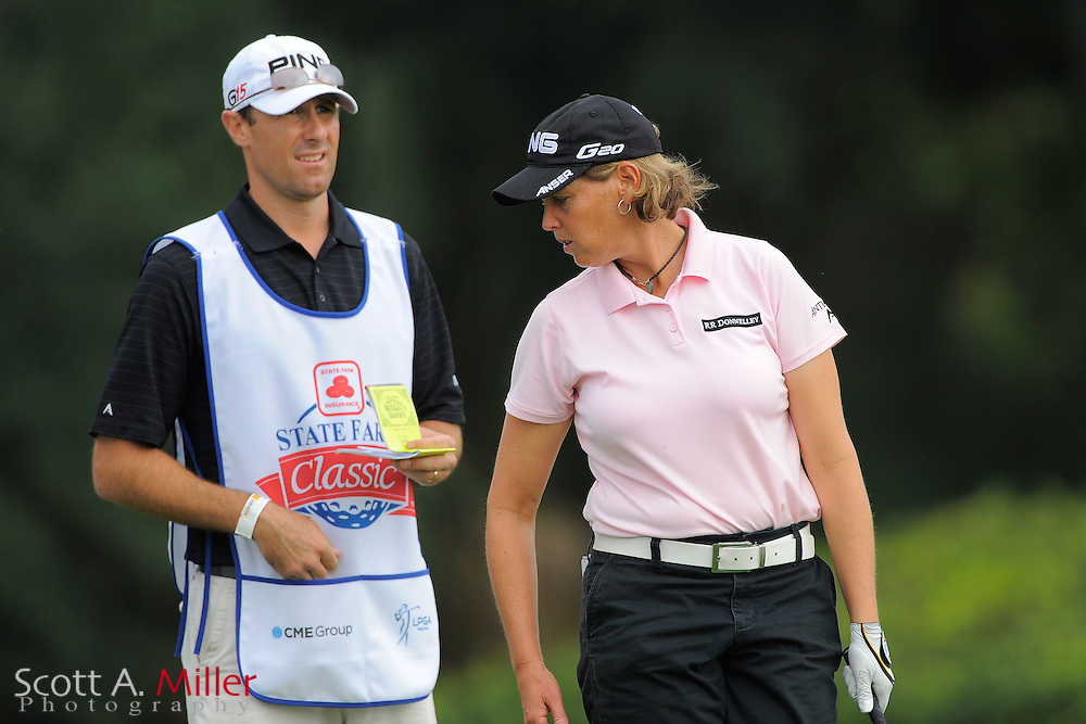 Wendy Ward and her caddie during the first round of the CME Group Titleholders at Grand Cypress Resort on Nov. 17, 2011 in Orlando, Fla.  ..©2011 Scott A. Miller