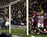 Photo: Mark Stephenson/Sportsbeat Images.<br /> West Bromwich Albion v Scunthorpe United. Coca Cola Championship. 29/12/2007.West Brom's Robert Koren (L) celebrates his goal